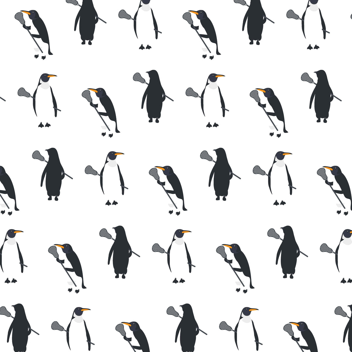 Penguins With Lacrosse Sticks Lacrosse Shorts