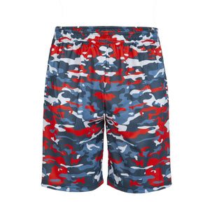 red camo lax shorts