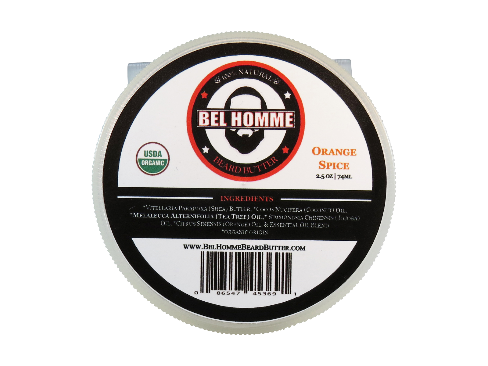 2.5oz Orange Spice Bel Homme Beard Butter.
