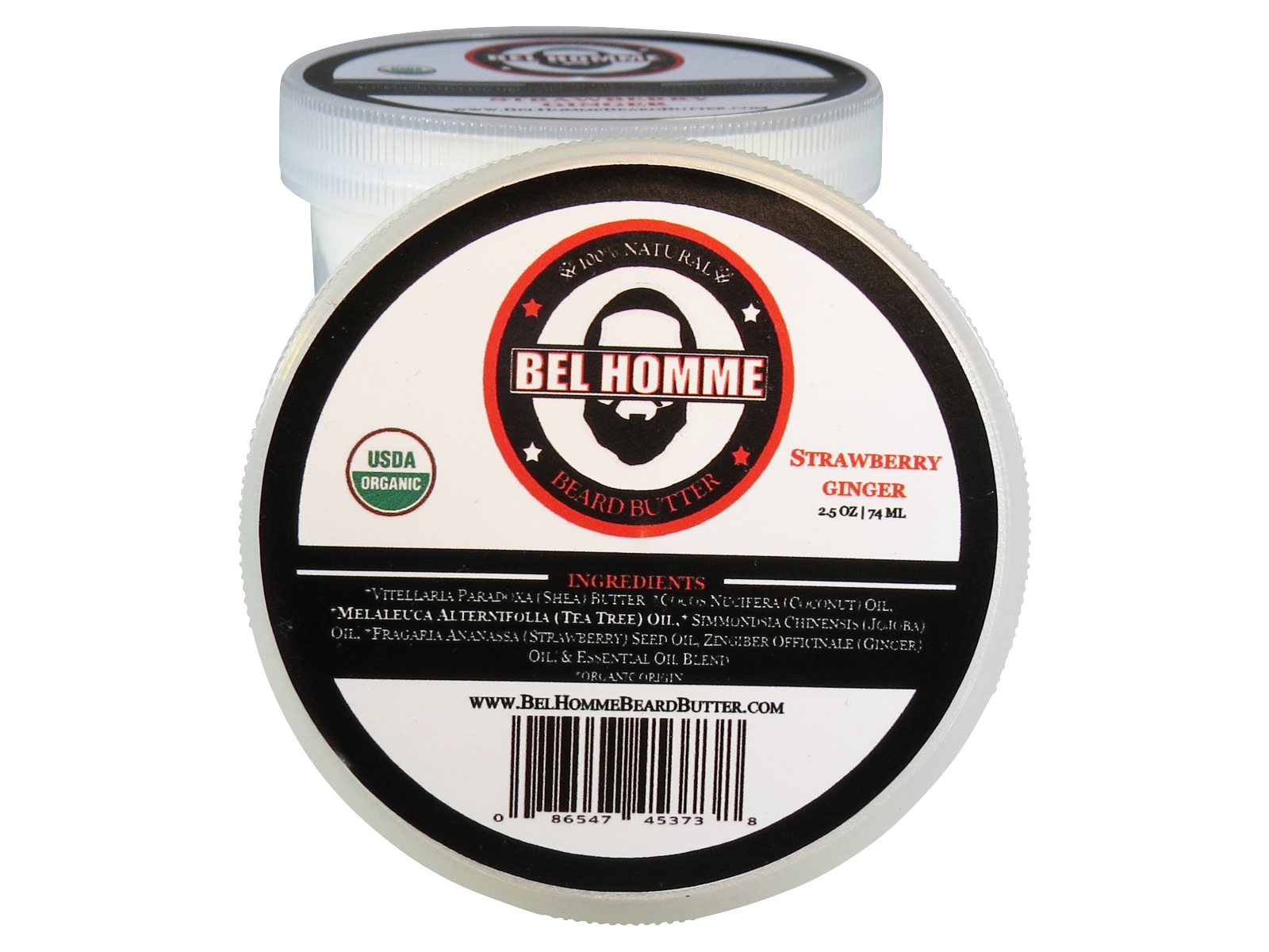 2.5oz Strawberry Ginger Bel Homme Beard Butter.