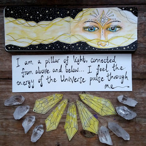 Pillar of Light- art journal painting