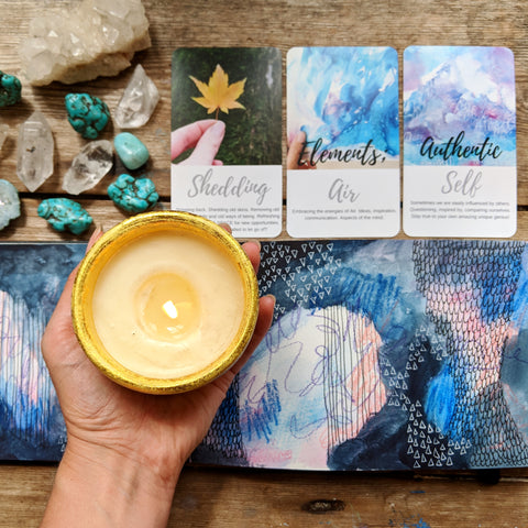Candle magic coming back to yourself, morning ritual and prayer sacredwildsoul