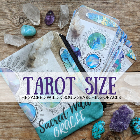 Sacred Wild & Soul Searching Oracle Tarot size sacredwildsoul