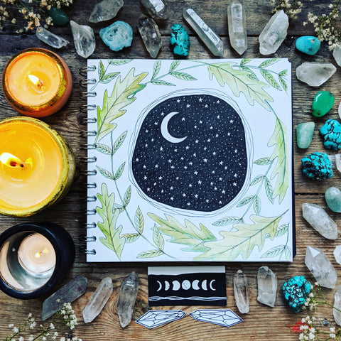 Zoe Howarth moon artwork sacre wild soul sketchbook