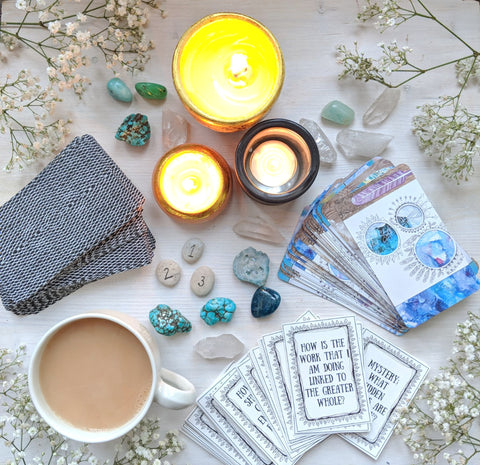 Get reading to journal and pull some tarot cards with me!