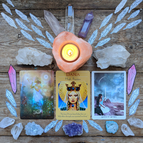 Tarot spread high priestess sacred wild soul ritual witchcraft