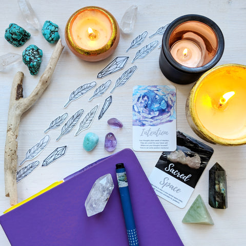 Sacred Wild Soul journaling and setting intentions