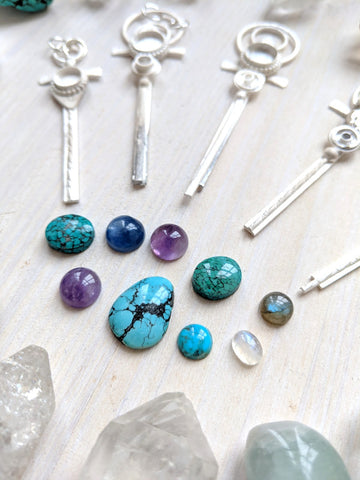 turquoise and amethyst crystal jewelry sacredwildsoul