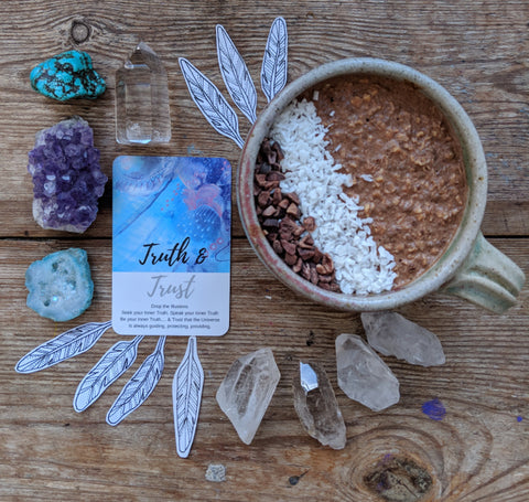 Trust oracle deck crystals overnight oats