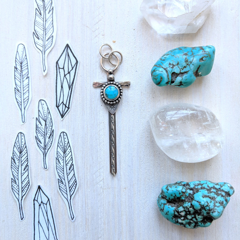 Silver Sword 03- Small Turquoise