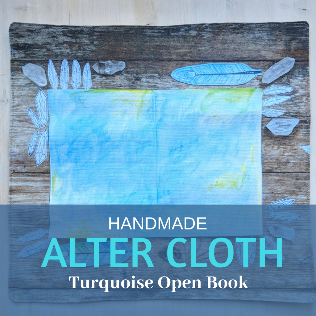 Alter Cloth- Turquoise open book