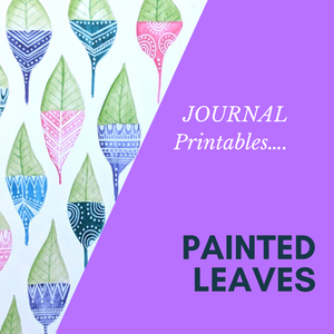 Painted Leaves - Journal Cutout PRINTABLE- Digital DOWNLOAD