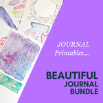 Beautiful Journal Bundle- Journaling -printable DIGITAL DOWNLOAD