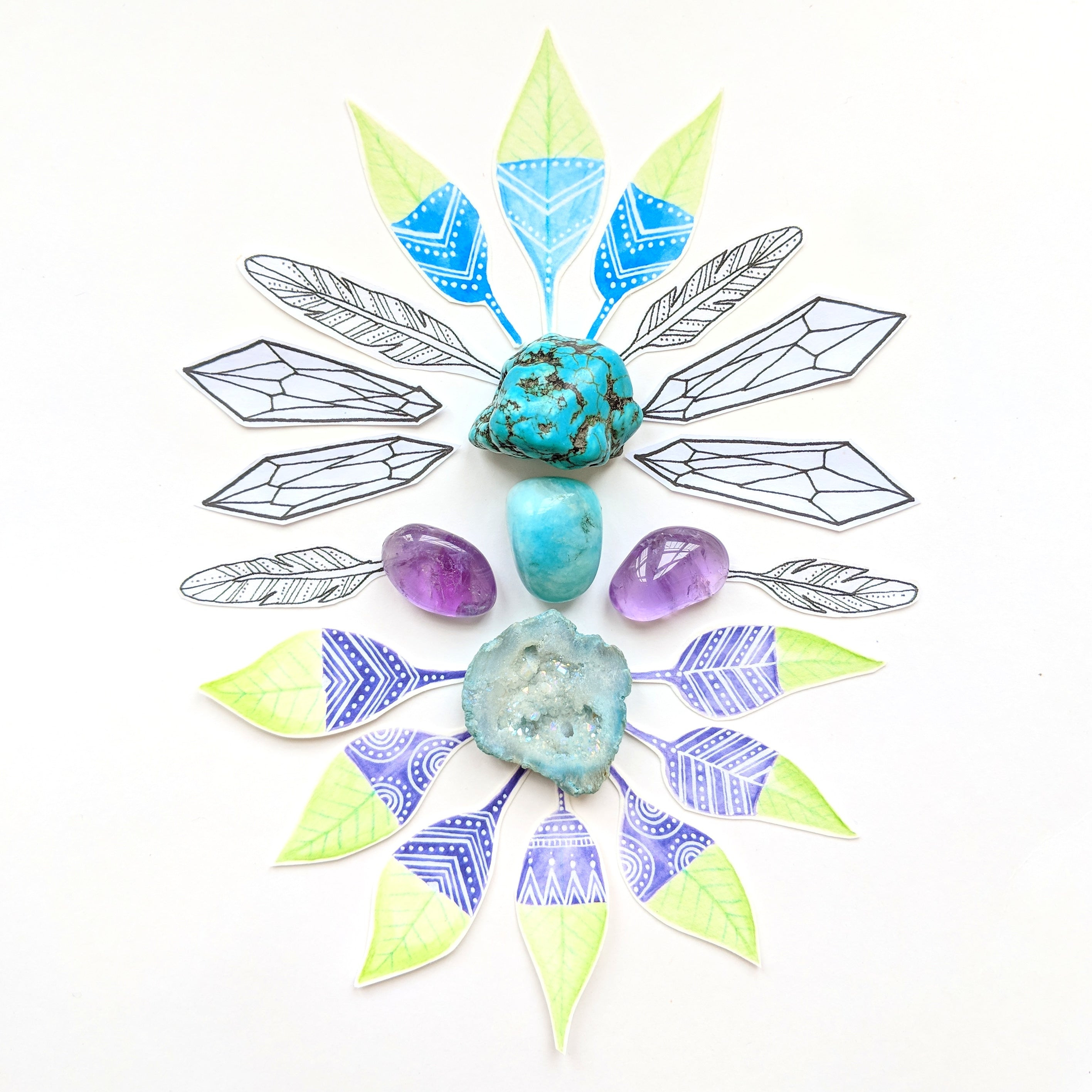 Sacred wild soul crystal mandala using printables