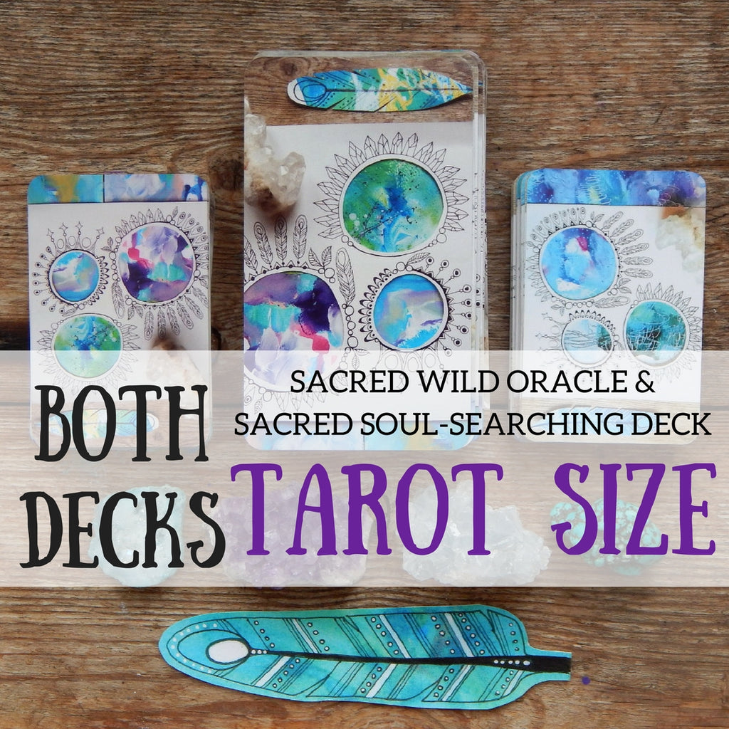 The TAROT sized Sacred Wild & Soul Searching Oracle! (All 60 cards)