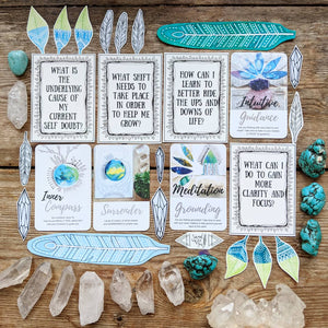 image about Printable Oracle Cards called The Inquiries Deck-printable Electronic Down load Sacred Wild Soul