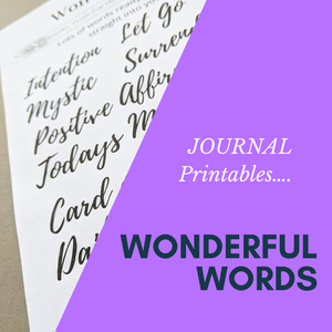 Wonderful Words- Journaling -printable DIGITAL DOWNLOAD