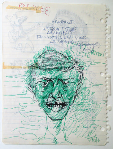 DANIEL JOHNSTON - Hide and Seek - Notebook Page (2 sided)