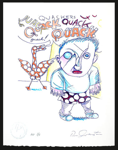 DANIEL JOHNSTON - Quack, Quack - Print