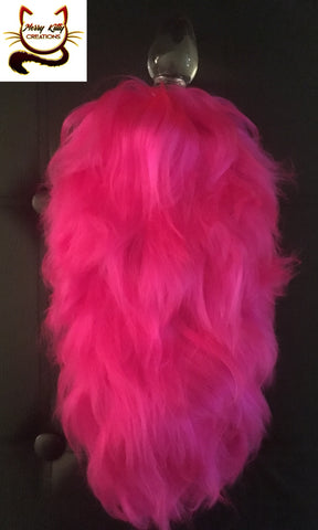 Hot Pink Tail - Glass Plug