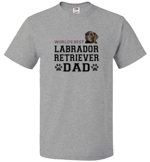 FOL Dog Unisex T-Shirt | World's Best Labrador Retreiver Dad - Athletic Heather