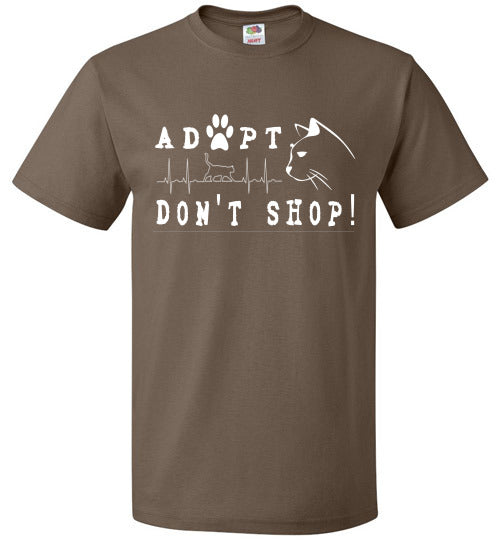 FOL Unisex T-shirt | Adopt. Don't Shop! - Chocolate