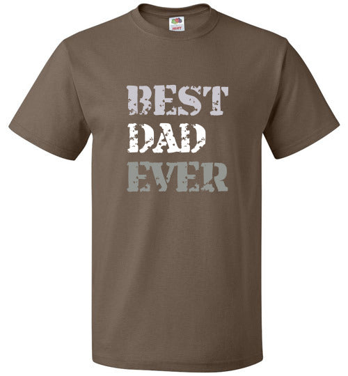 FOL Unisex Family T-Shirt | Best Dad Ever - Chocolate