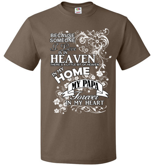 FOL Unisex Family T-Shirt | Miss My Papa - Chocolate