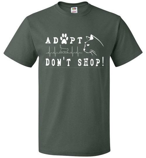 FOL Unisex T-shirt | Adopt. Don't Shop! - Forest Green
