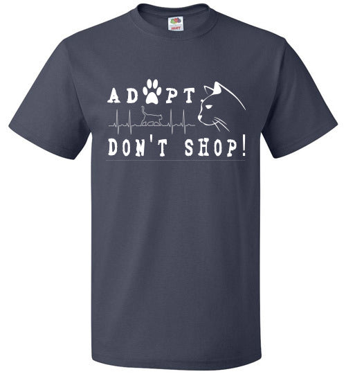 FOL Unisex T-shirt | Adopt. Don't Shop! - J Navy
