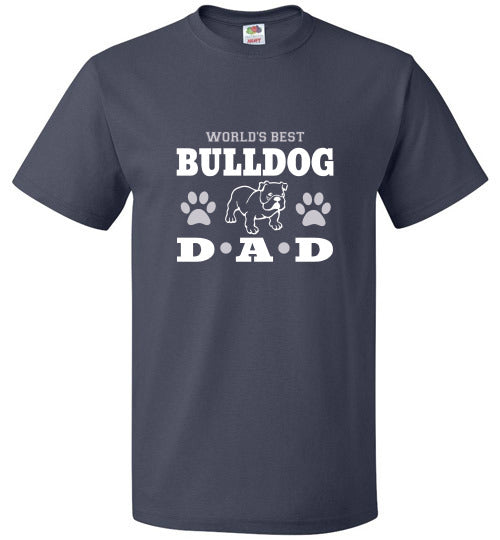 FOL Dog Unisex T-Shirt | World's Best Bulldog Dad - J Navy
