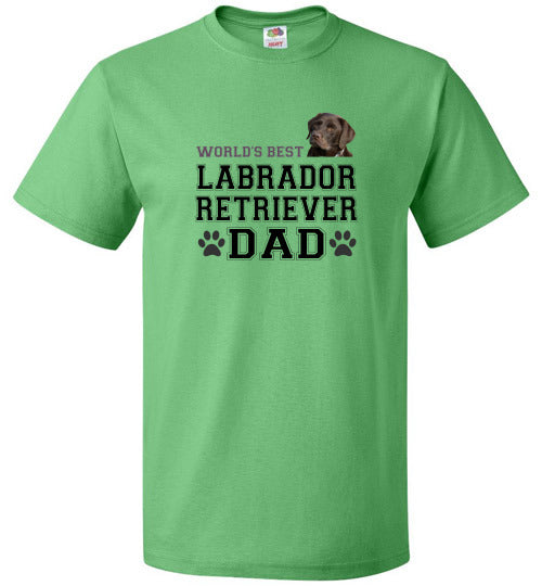 FOL Dog Unisex T-Shirt | World's Best Labrador Retreiver Dad - Kelly