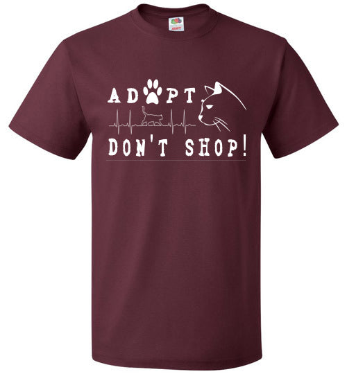 FOL Unisex T-shirt | Adopt. Don't Shop! - Maroon