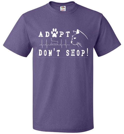 FOL Unisex T-shirt | Adopt. Don't Shop! - Purple