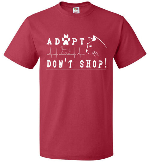 FOL Unisex T-shirt | Adopt. Don't Shop! - True Red