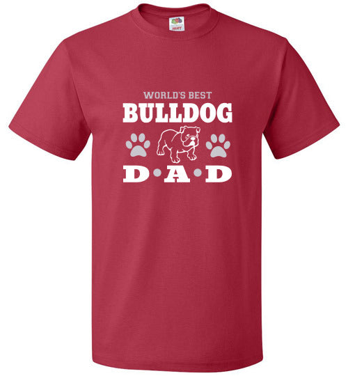 FOL Dog Unisex T-Shirt | World's Best Bulldog Dad - True Red
