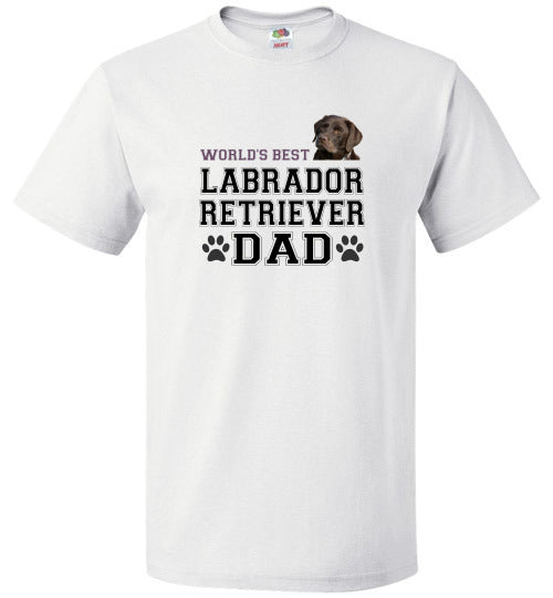 FOL Dog Unisex T-Shirt | World's Best Labrador Retreiver Dad - White