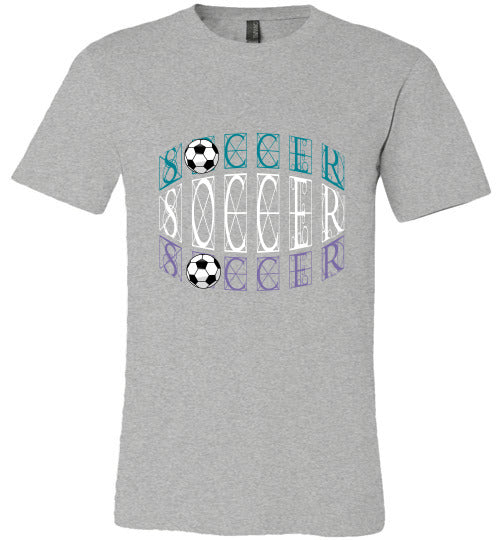 Sports Soccer Niche T-Shirt - Soccer - Athletic Heather