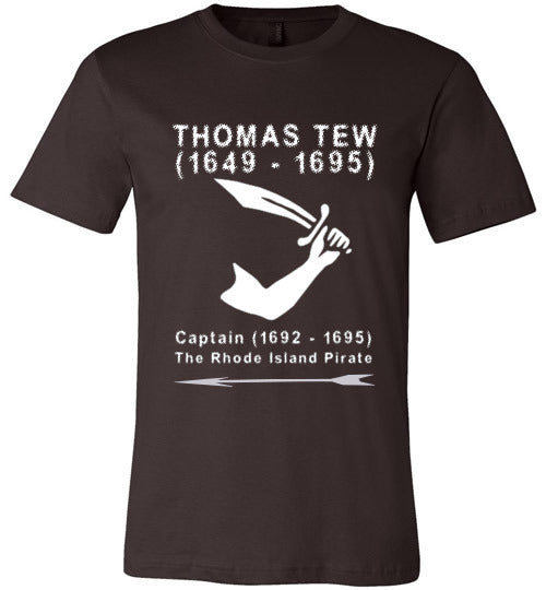 Pirates T-Shirt | Thomas Tew - Brown