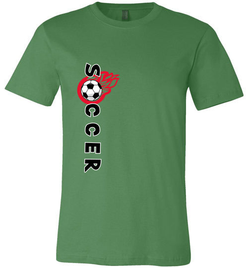 Sports Soccer Niche T-Shirt - Soccer Flame - Leaf