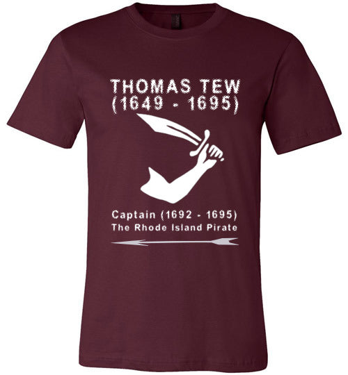 Pirates T-Shirt | Thomas Tew - Maroon