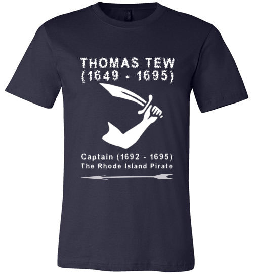 Pirates T-Shirt | Thomas Tew - Navy