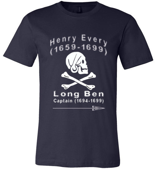 Pirates T-Shirt | Henry Every Long Ben - Navy