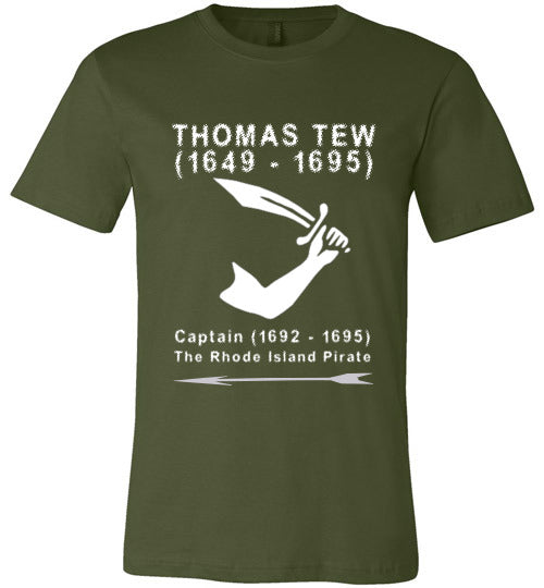 Pirates T-Shirt | Thomas Tew - Olive