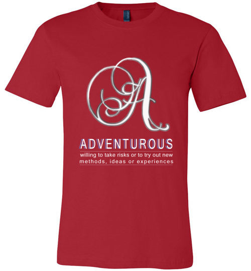 Canvas Unisex T-Shirt | Adventurous - Red