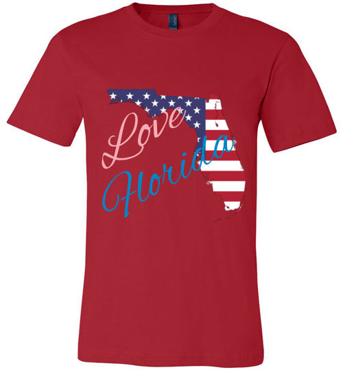 Florida State Shirts - Love Florida - Unisex - Red