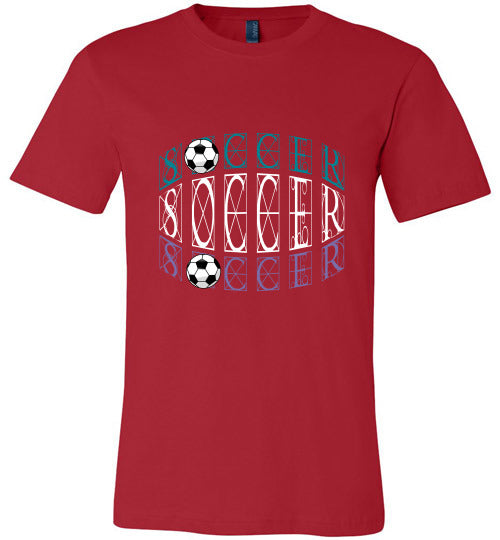 Sports Soccer Niche T-Shirt - Soccer - Red