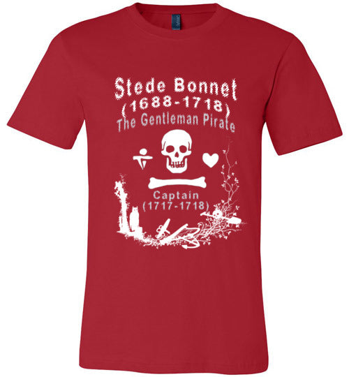 Pirates T-Shirt | Stede Bonnet The Gentleman Pirate - Red