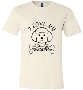 Dogs T-shirt | I Love My Bichon Frise