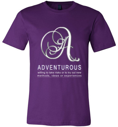 Canvas Unisex T-Shirt | Adventurous - Team Purple